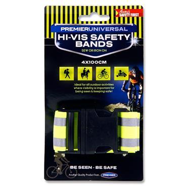 Premier Universal Hi-viz 1m X 4cm Reflective Safety Band