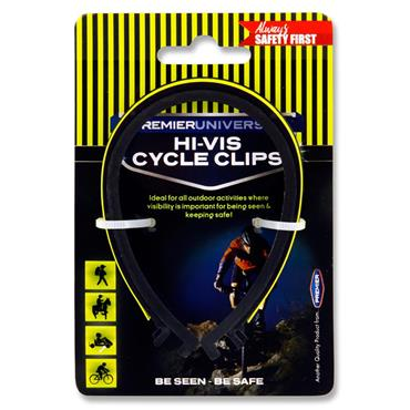 Premier Universal Hi-viz Reflective Bicycle Clips