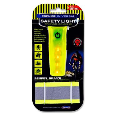 Premier Universal Hi-viz Reflective Bicycle Safety Light Set