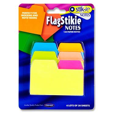 Stik-ie Notes 6x20 Sheets Index & Note Taking Page Marker - Neon