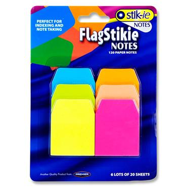 Stik-ie Notes 6x20 Sheets Index Page Marker - Neon