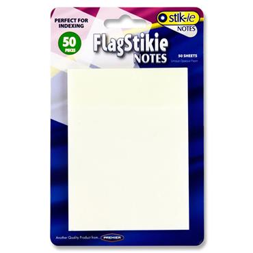 Stik-ie Notes 50 Sheets 70x96mm Transparent Stikie Notes - Clear