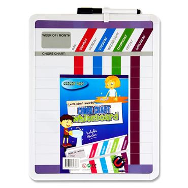 Clever Kidz Chore Chart Whiteboard W/ Marker