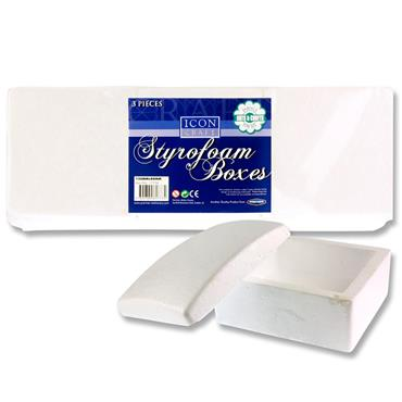 Icon Craft Pkt.3 Styrofoam Boxes 135x80mm - Square