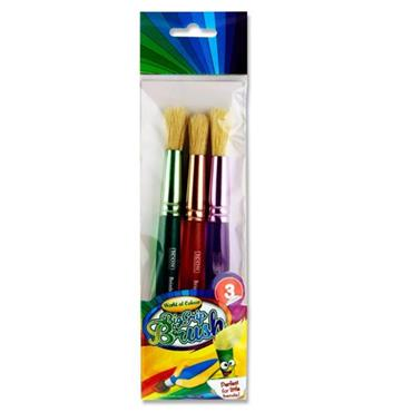 Woc Pkt.3 Big Grip Brush Set - Round Toddler