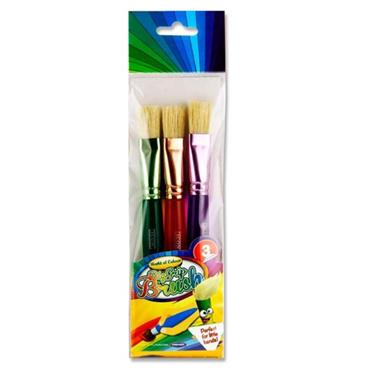 Woc Pkt.3 Big Grip Brush Set - Flat Toddler