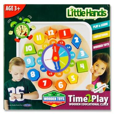 Little Hands Wooden Educational Clock Puzzle