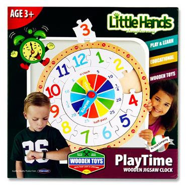 Little Hands Wooden Jigsaw Clock Puzzle