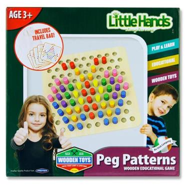 Little Hands Wooden Education Game - Peg Patterns