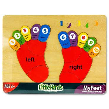 Little Hands Wooden Education Toy - Counting My Feet Puzzle