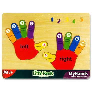 Little Hands Wooden Education Toy - Counting My Hands Puzzle