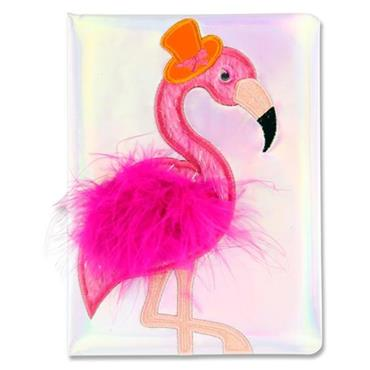 Emotionery A5 128pg Holographic Notebook - Flamingo