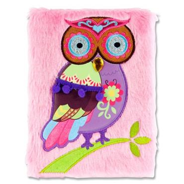 Emotionery A5 128pg Plush Notebook - Owl