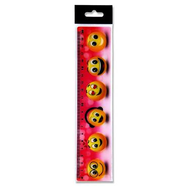 EMOTIONERY 3D 20cm RULER - EMOJI 6 ASST.