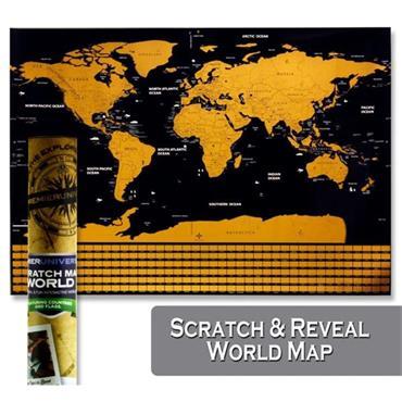Premier Universal Scratch World Map 82.5cmx59.4cm