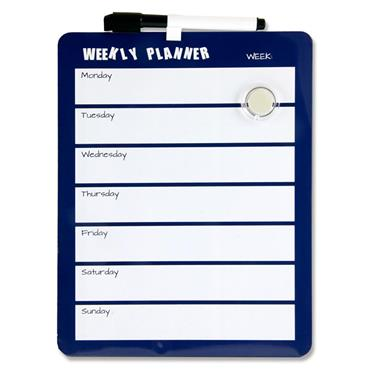 Premier Office 216x279mm Magnetic Dry Wipe Weekly Planner