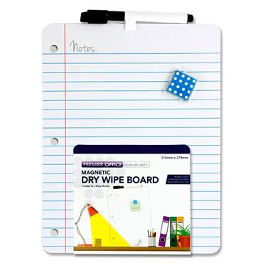 Premier Office 216x279mm Magnetic Dry Wipe Board - Notes