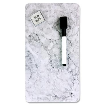 Premier Office 140x254mm Magnetic Dry Wipe Board - Marble