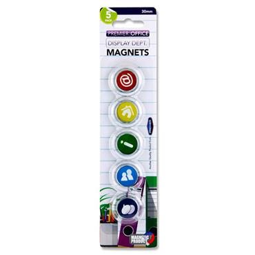 Premier Office Card 5 30mm Round Magnets - Symbols