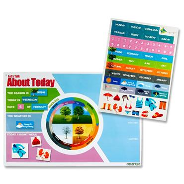 Clever Kidz Magnetic Calendar Board 420x288mm