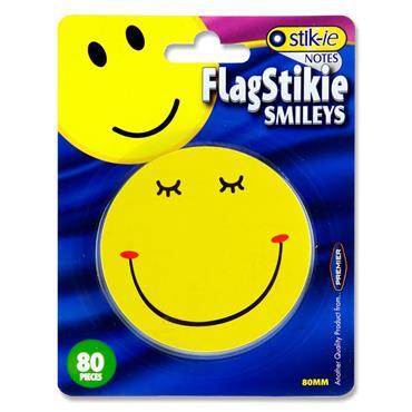 Stik-ie 80 Pce Flagstikie Smileys 76mmx76mm