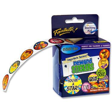 Clever Kidz Roll 200 Stickers - Reward