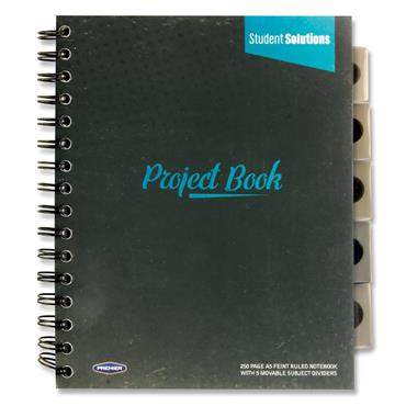 STUDENT SOLUTIONS A5 250pg PP 5 SUBJECT PROJECT BOOK 3 ASST.