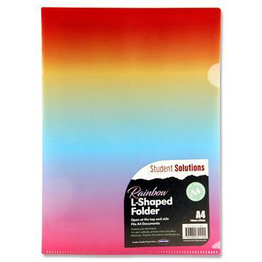 Student Solutions A4 L-shape Folder - Rainbow