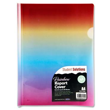 Student Solutions A4 Report Cover Folder - Rainbow