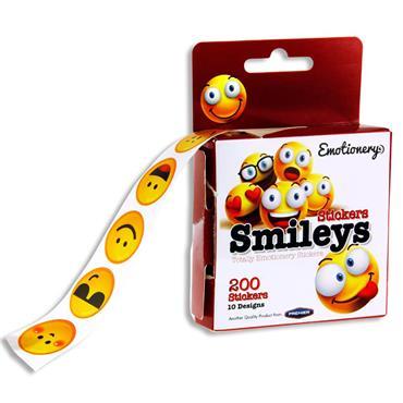 Emotionery Roll 200 Stickers - Smileys