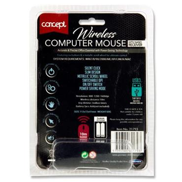 Concept Ergo Elite 2000 Wireless Computer Mouse