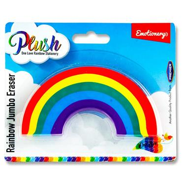 Emotionery Rainbow Plush Jumbo Eraser - Rainbow