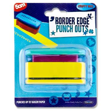 CRAFTY BITZ 5cm BORDER EDGE PUNCH OUT 3 ASST.