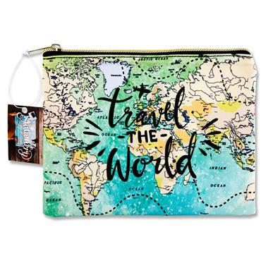 I Love Stationery 350x260mm Pouch - Travel The World