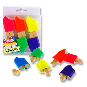 Emotionery Pkt.6 Novelty Highlighters - Ice Pop