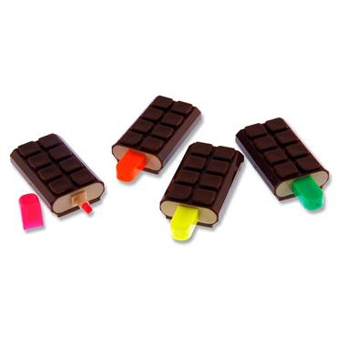 Emotionery Pkt.4 Novelty Highlighters - Chocolate Ice Lolly