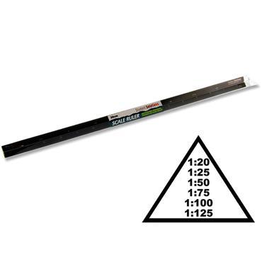 Student Solutions 30cm Triangular Scale Ruler - Aluminium
