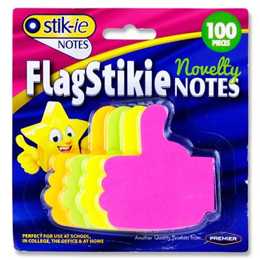 Stik-ie Card 100 Novelty Flag Stikie Notes - Thumbs Up