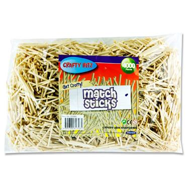 Crafty Bitz 4000 Matchsticks - Natural