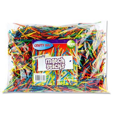 Crafty Bitz 4000 Matchsticks - Coloured