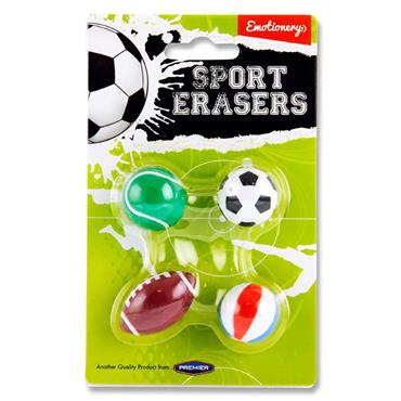 Emotionery Card 4 Erasers - Sport