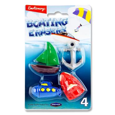 Emotionery Card 4 Erasers - Boating