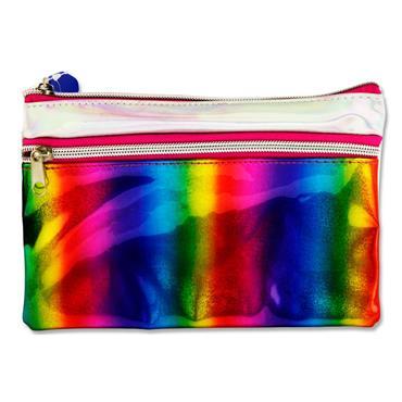 Premier 2 Pocket Flat Pencil Case - Rainbow