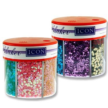 Icon Craft 50g 6 Part Glitter Shaker Cdu - Pastels