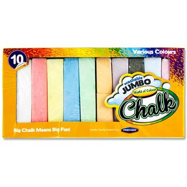 Woc Box 10 Jumbo Chalk Coloured