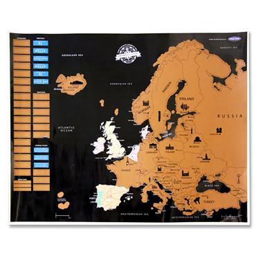 Premier Universal Scratch Europe Map 55x43cm