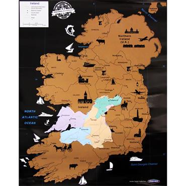 Premier Universal Scratch Ireland Map 55x43cm