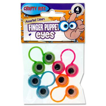 Crafty Bitz Set 4 Finger Puppet Eyes