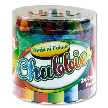 Woc Tub 24 Super Chubbies Crayons