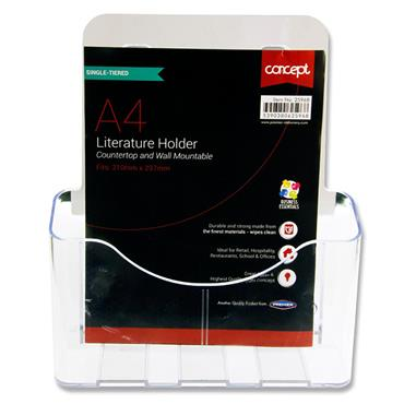 Concept A4 Literature Holder - Single Tier